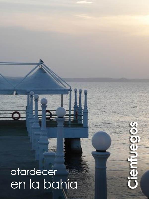 Cienfuegos - atardecer en la bahía de Jagua