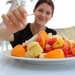 Desayuno incluido (ensalada de frutas tropicales)