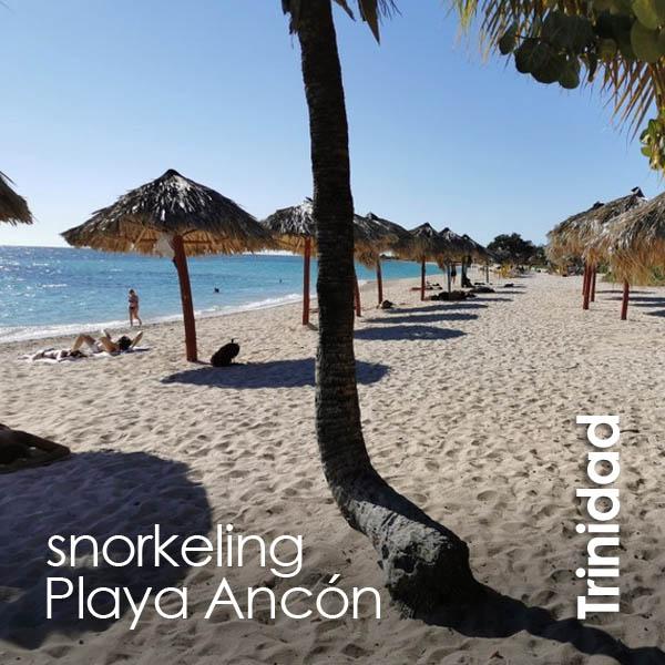 Trinidad - snorkeling Playa Ancón