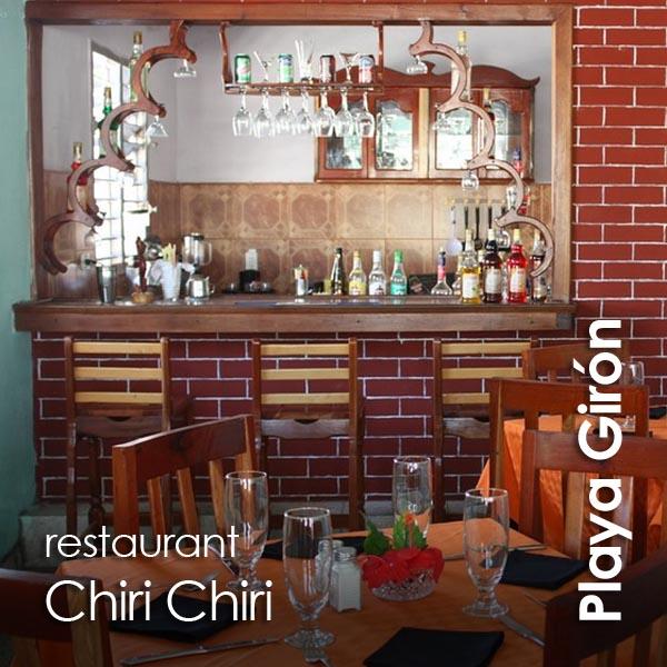 Playa Giron - restaurante Chiri Chiri