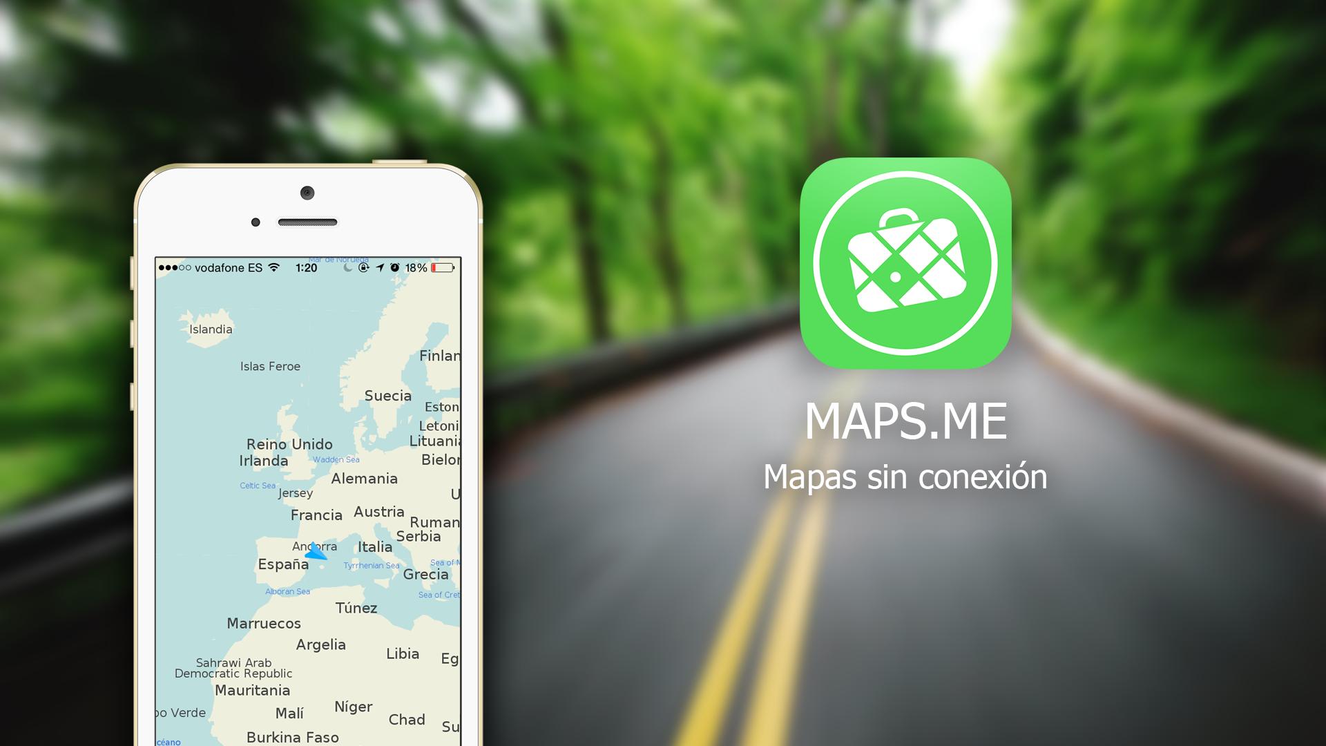 Maps-Me (mapas sin conexion)