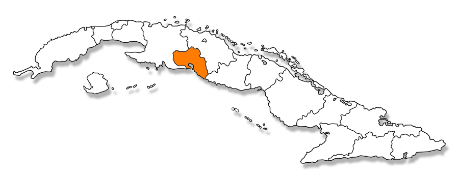 Codigos postales de Cuba - Mapa de la provincia de Cienfuegos