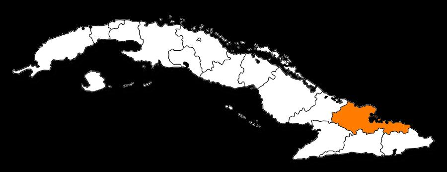 Codigos postales de Cuba - Mapa de la provincia de Holguin