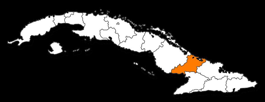 Mapa provincial de Las Tunas