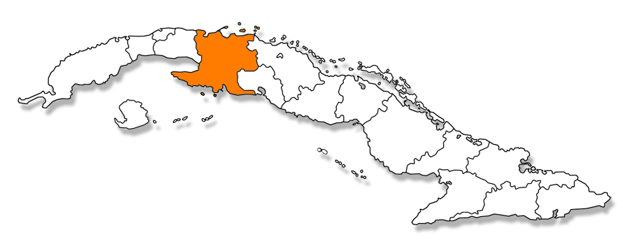 Mapa provincia de Matanzas