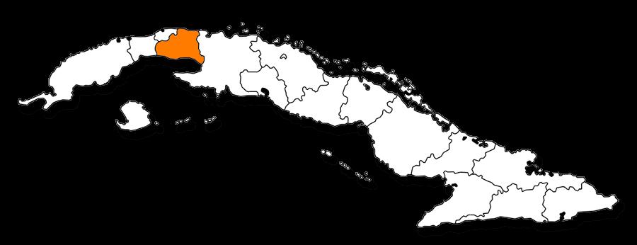 Mapa de la provincia de Mayabeque