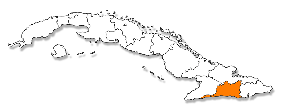 Codigos postales de Cuba - Mapa provincia de Santiago de Cuba
